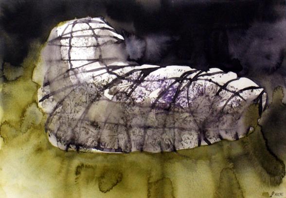 """""""Färdkost III"""", 54 x 43,5 cm, akvarell"""