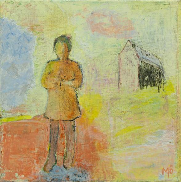 Minnenas utmarker, 20 x 20 cm, akryl