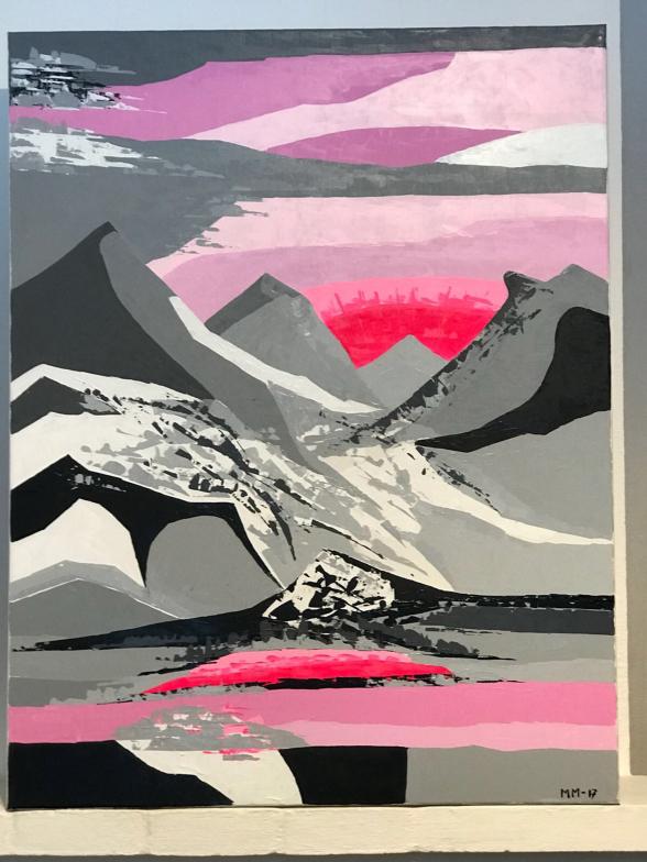 Fantasi från Norrbotten, 70 x 90 cm, akryl