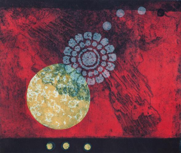 Stjärnblomma, 40 x 45 cm,  färgetsning, högtryck 1/5 ET