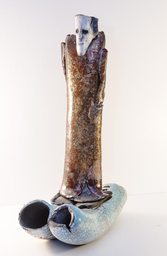 Resan med floden, 35 x 12 x 25 cm, skulptur