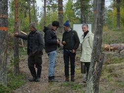 Markus Vallien, Gustaf Nordenskiöld, Hans Isaksson och Åsa Jungnelius. Fotograf Lisa Torell