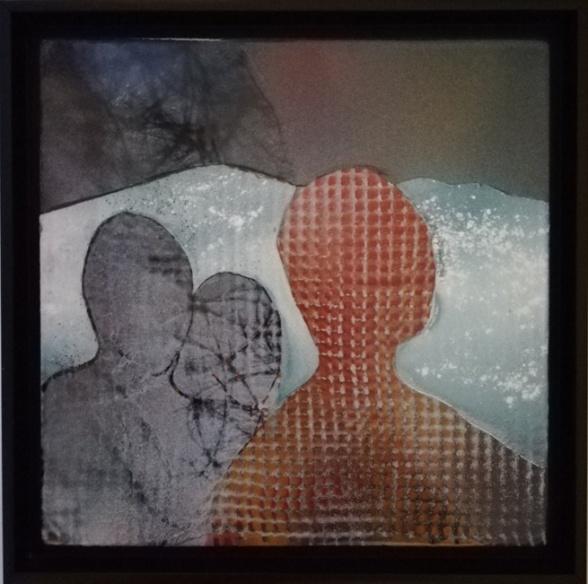 """""""På väg mot Giron"""", 33.5x33.5 cm, Emalj"""