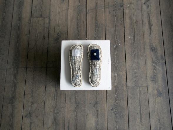 """Samlarens skor"", 25x35 cm, skulptur"
