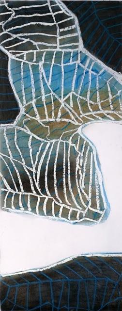 Sandnäsudden 5, kol och krita på papper 200 x 75 cm
