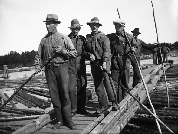 Flottare vid Böle Bom
