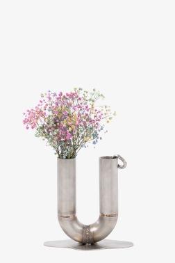 Lotta Lampa - Pieced Mini Vase - Vas i rostfri metall