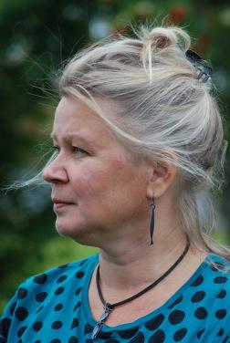 Eva Hagström, curator för utställningen