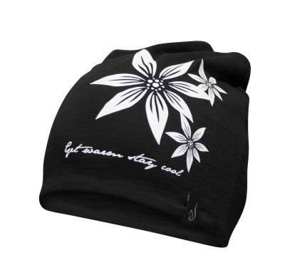 Ivanhoe Underwool Hat Flower - Black