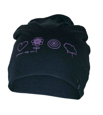 Ivanhoe Underwool Hat Meja Symbols - Black