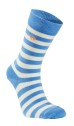 Ivanhoe Wool Sock Stripe - Ice blue 40-45