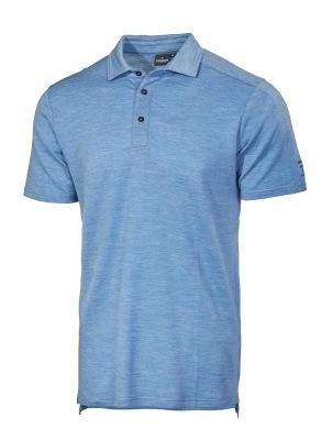 Ivanhoe Underwool Elis Poloshirt - Ice blue marl S