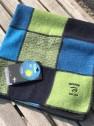 Ivanhoe Patchworkpläd stor & liten - Babypläd Multi Blå/Grön