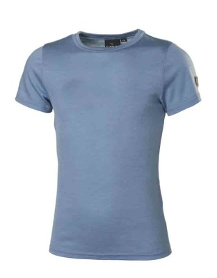 Ivanhoe Underwool Junior Jive t-shirt - Blue Shadow 100