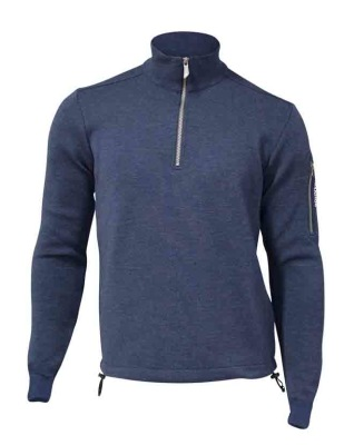Ivanhoe Assar Half Zip WB - Steel Blue S