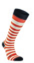 Ivanhoe Wool Sock Stripe Compression - Orange 43-45