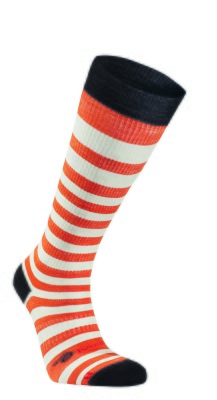 Ivanhoe Wool Sock Stripe Compression - Orange 37-38