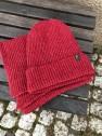 Ivanhoe Wool Set Scarf & Hat - Dark red