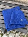 Ivanhoe Wool Set Scarf & Hat - Royal blue
