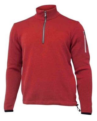Ivanhoe Assar Half Zip - Red Clay S