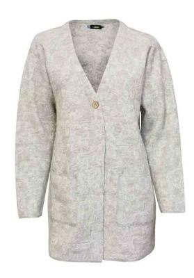 Ivanhoe Elvira Cardigan - Light Silver Grey 36