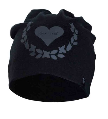 Ivanhoe Underwool Hat Love Wool - Black One Size