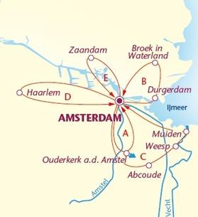 Amsterdam City Tour med 3 eller 5 övernattningar. (Klicka för större bild)