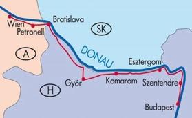 Wien-Bratislava- Budapest (normaltur 260-300 km) (Klicka för större bild)