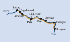 Cykel & Båt Passau-Wien-Bratislava-Budapest