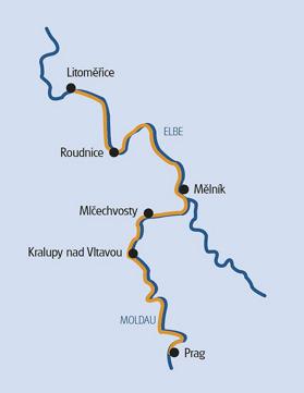 Cykel & Båt Prag - Melnik - Litomerice - Prag