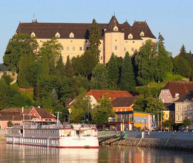 Greinburg slott i Österrike.