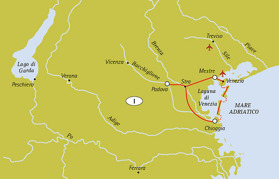 Mestre - Chioggia - Padova - Mestre (135 km) (Klicka för större bild)