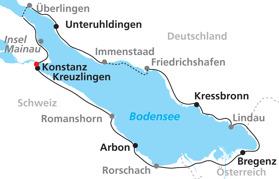 Bodensjön Runt i korta etapper (Klicka för större bild)