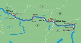 Cykel & Båt Passau-Wien-Bratislava-Passau