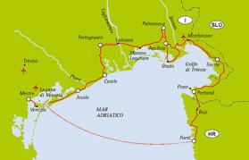 Från Venedig till Porec (Klicka för större bild)