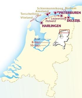 Frisiska öarna 196-230 km (Klicka för större bild)