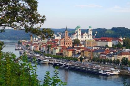 Färjeläget i Passau.