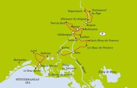 Provence Camargue 230 km (klicka för större bild).
