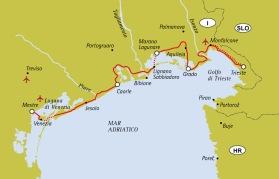 Från Venedig till Trieste (Klicka för större bild)