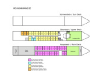 Däckplan M/S Normandie (Klicka för större bild)