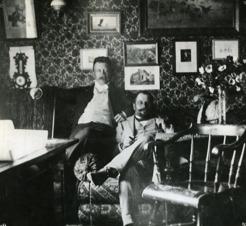 PB tillsammans med Lars Tirén, Frösön.