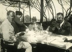 PB på resa i Italien 1921-22.