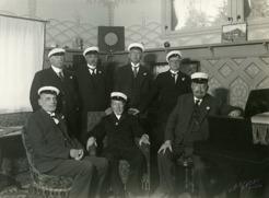 50 års Studentjubileum på Sommarhagen 1935. PB tog studenten i Umeå 1885.