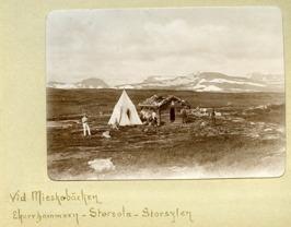 Mountain hiking camp at Mieskebäcken.