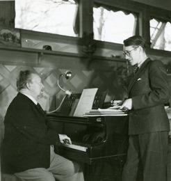 PB at grand piano, Sommarhagen.