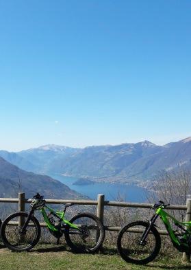 MTB above lake Como