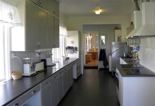 Köket på Björkängs Vandrarhem mellan Varberg & Falkenberg