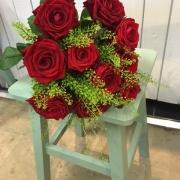 Klassiskt röda rosor