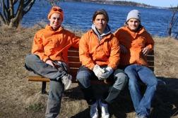 Från vänster: Gustaf, Fredrik & Carl-Philip
