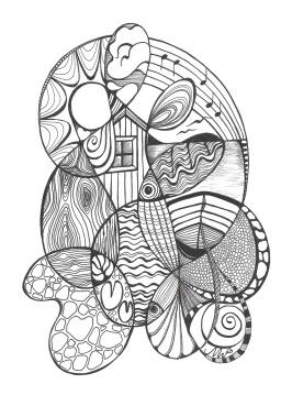 Sommarminnen - 30 x 40 cm